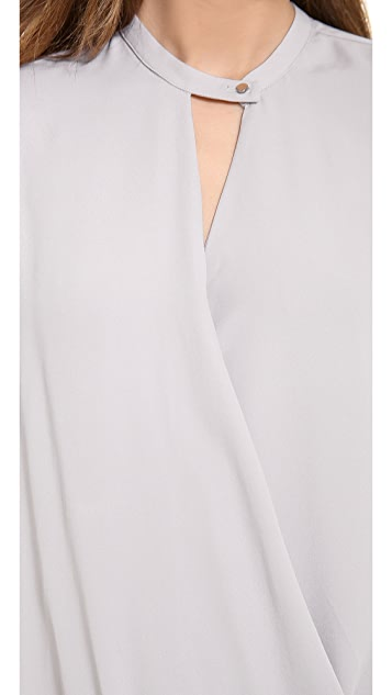 And B Signature Twist Long Sleeve Blouse