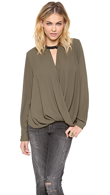 And B Long Sleeve Blouse