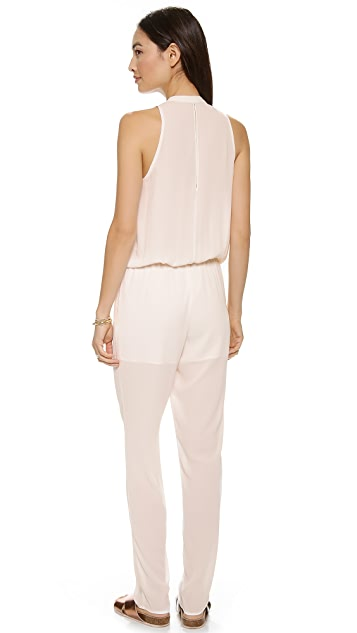 And B Sleeveless Jumpsuit