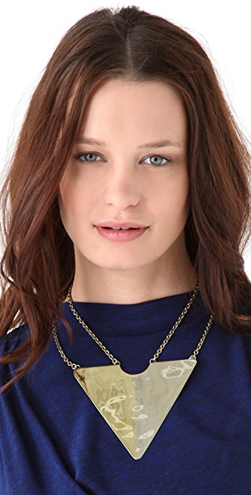 Anndra Neen Two Tone Triangle Necklace