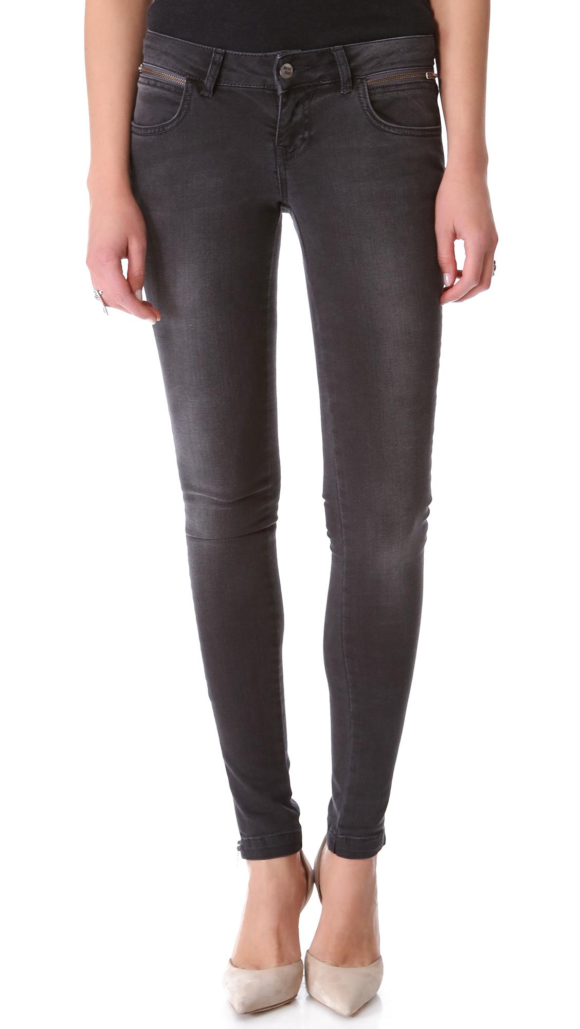 89ae385ce95 ANINE BING Double Zip Skinny Jeans   SHOPBOP