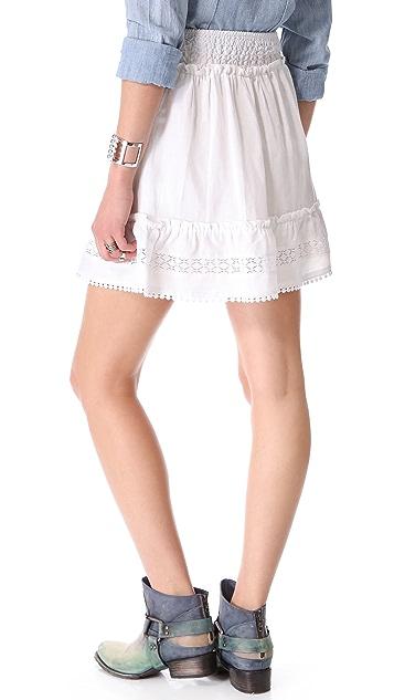 ANINE BING Bohemian Linen Skirt