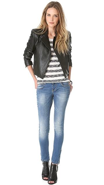 ANINE BING Skinny Two Zip Jeans