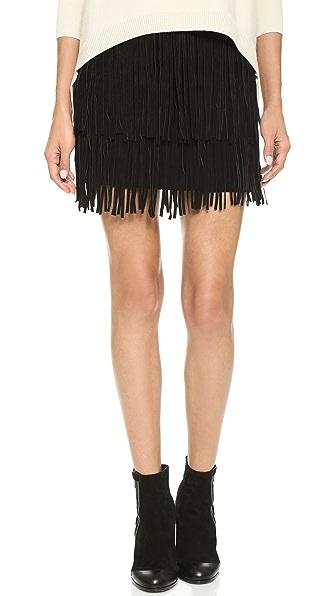 ANINE BING Suede Fringe Skirt | SHOPBOP