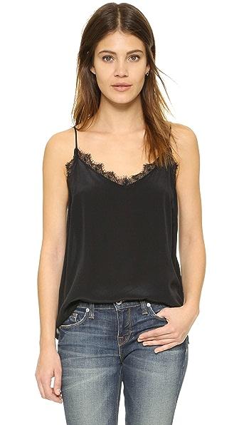 ANINE BING Silk Camisole - Black