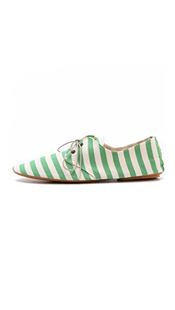 Anniel Striped Soft Structure Oxfords