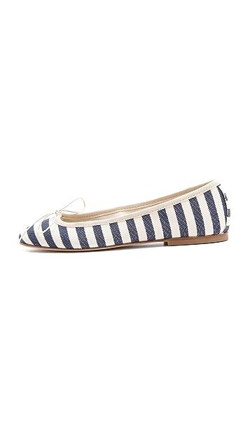 Anniel Striped Ballet Flats