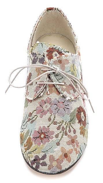 Anniel Floral Print Oxfords