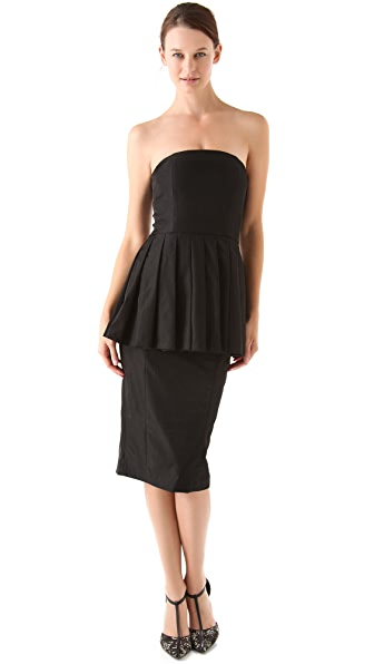 Antipodium Dead Right Strapless Dress