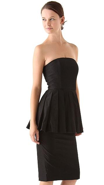 Antipodium Dead Right Strapless Dress