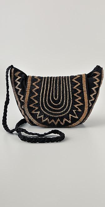 Antik Batik Suede Douma Besace Bag