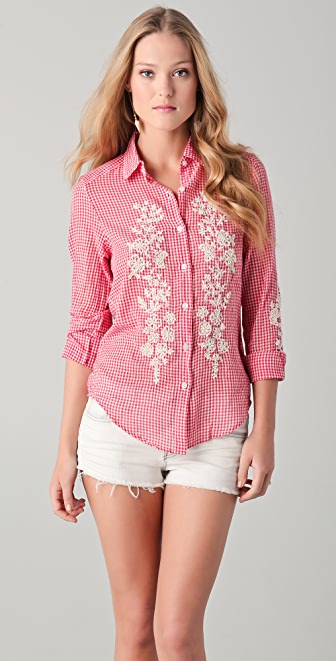 Antik Batik Alama Embroidered Shirt