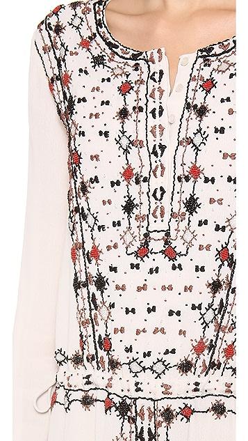 Antik Batik Garland Embellished Dress