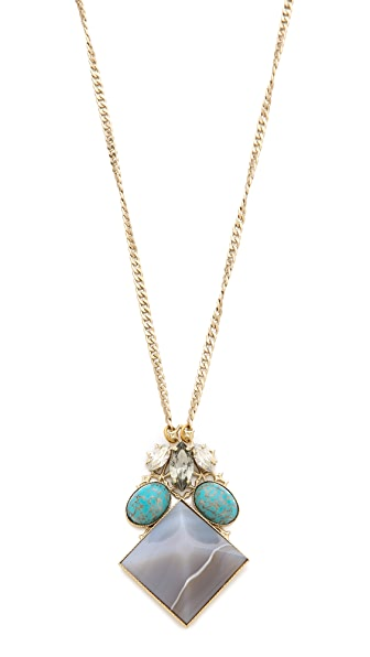 Anton Heunis Crystal Pyramid Necklace