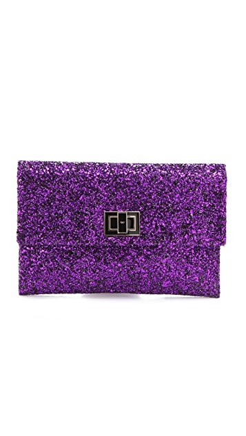 Anya Hindmarch Two Tone Glitter Valorie Clutch