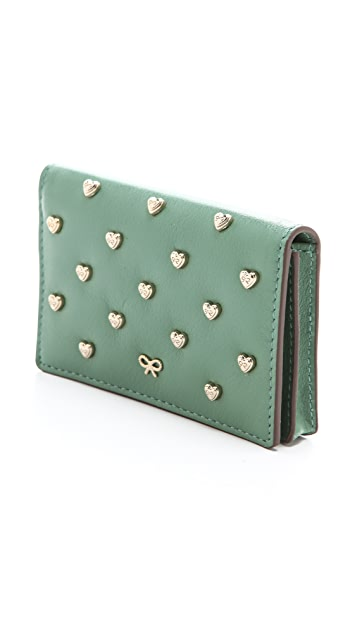 Anya Hindmarch Studded Heart Card Case