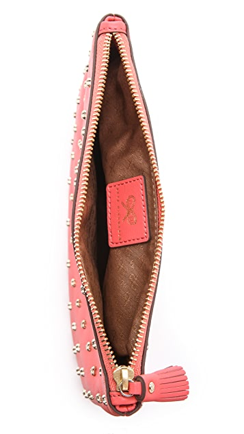 Anya Hindmarch Studded Heart Zip Top Pouch