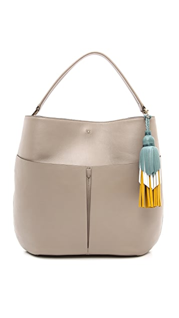 Anya Hindmarch Nevis Zipper Hobo Bag