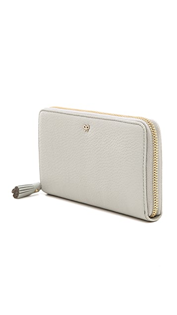 Anya Hindmarch Large Zip Round Wallet