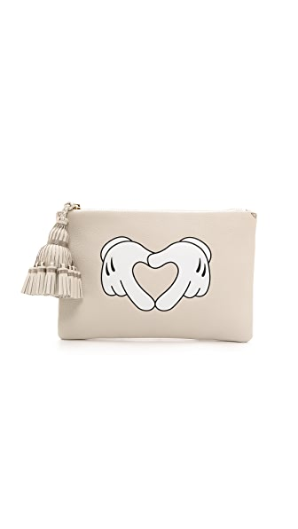 Anya Hindmarch Georgiana Heart Hands Clutch