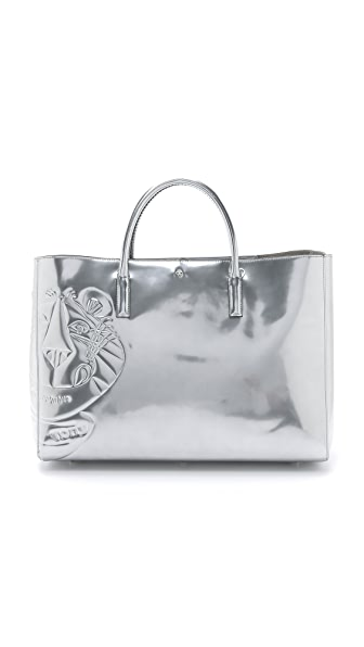 Anya Hindmarch Frosties Ebury Maxi Bag - Silver