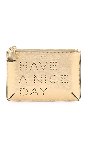 Anya Hindmarch Have a Nice Day Loose Pocket Bag