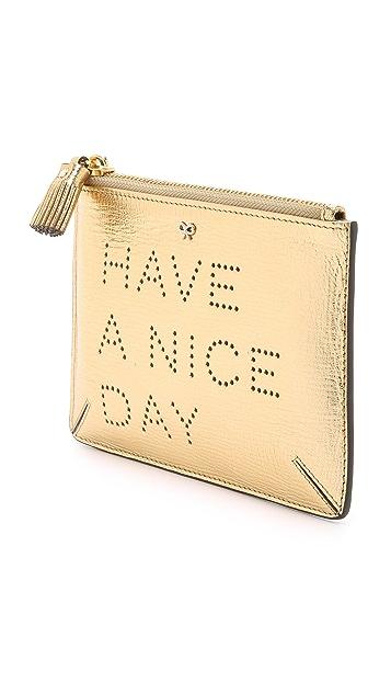 Anya Hindmarch Have a Nice Day Loose Pocket Bag
