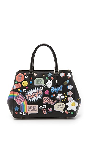 anya hindmarch stickers small featherweight ebury bag shopbop. Black Bedroom Furniture Sets. Home Design Ideas