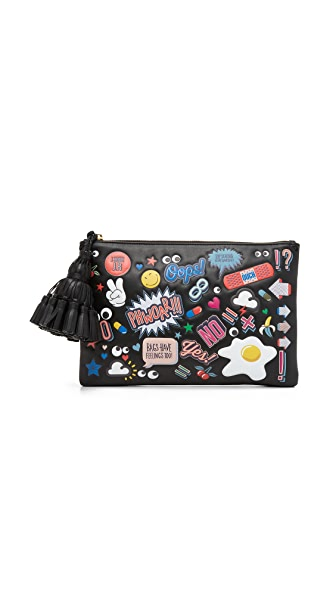 Anya Hindmarch Georgiana Clutch with Allover Stickers