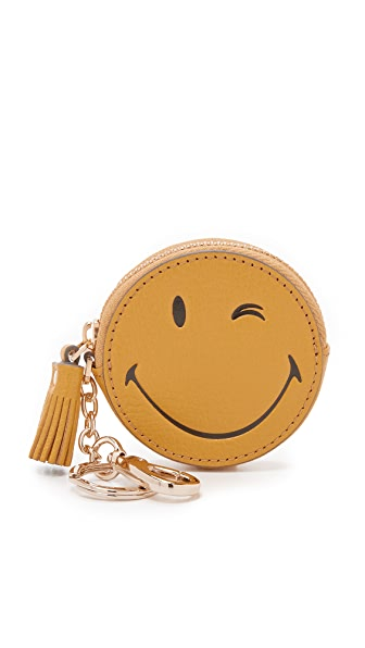 Anya Hindmarch Wink Coin Purse - Mustard