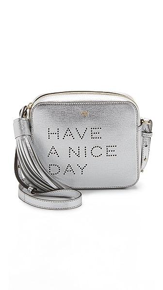 Anya Hindmarch Have a Nice Day Cross Body Bag - Silver Metallic