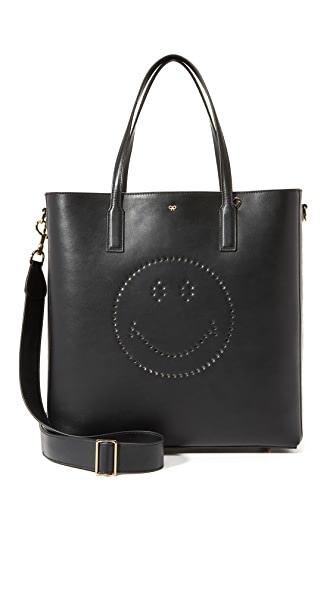 Anya Hindmarch Smiley Ebury Tote - Black