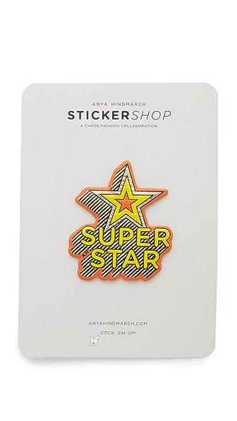 anya hindmarch superstar sticker shopbop. Black Bedroom Furniture Sets. Home Design Ideas