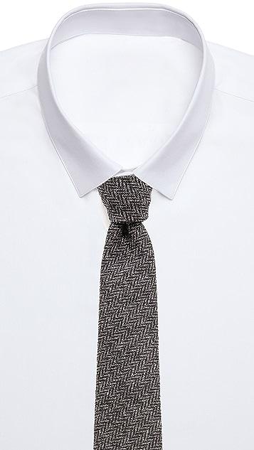 Alexander Olch Grey Brown Necktie