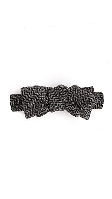 Alexander Olch Grey Brown Bow Tie