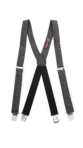 Alexander Olch Grey Brown Suspenders