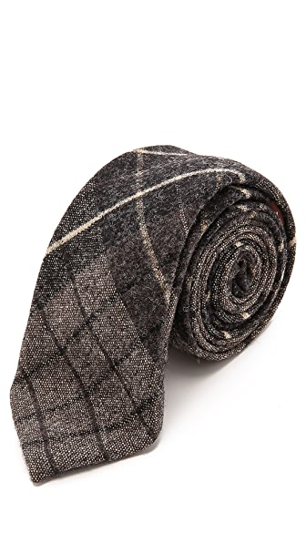 Alexander Olch Large Plaid Wool Necktie