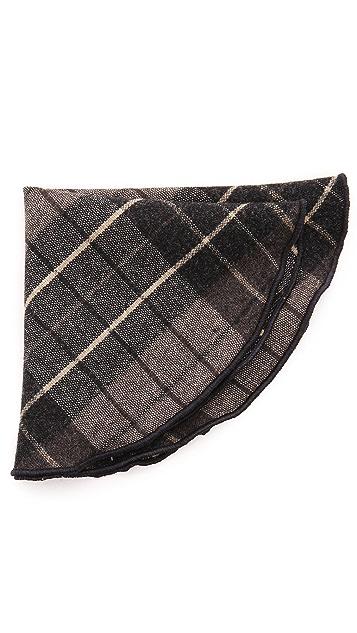 Alexander Olch Large Plaid Wool Pocket Round