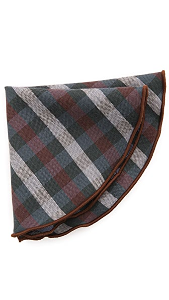 Alexander Olch Medium Plaid Wool Pocket Round