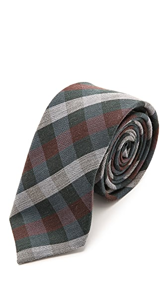 Alexander Olch Medium Plaid Wool Necktie