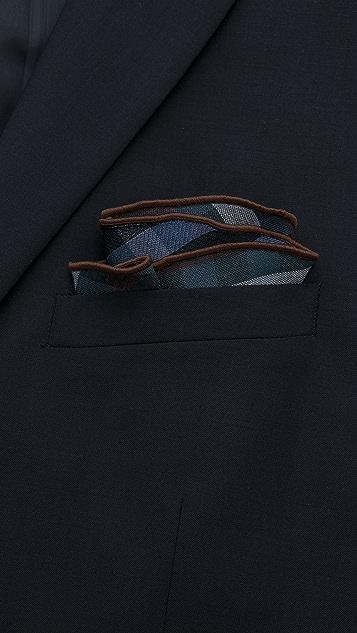 Alexander Olch Medium Plaid Wool Pocket Round