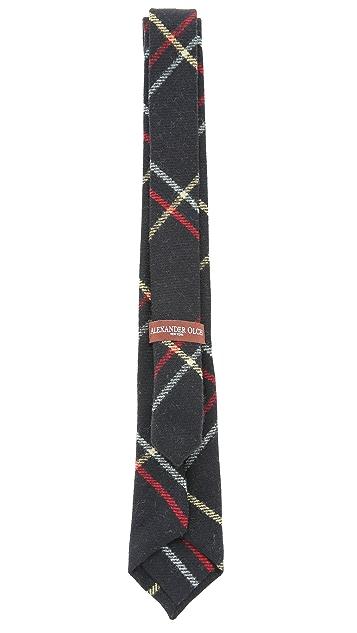 Alexander Olch The Brooks Large Windowpane Necktie