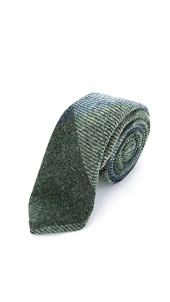 Alexander Olch The Pinwheel Large Plaid Necktie