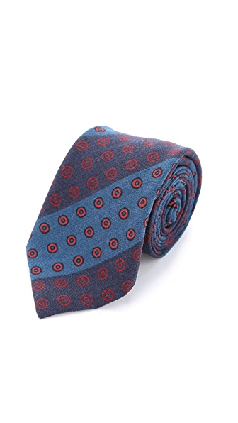 Alexander Olch The Split Printed Pattern Stripes Necktie