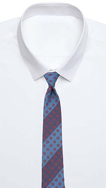 Alexander Olch The Split Printed Pattern Stripes Necktie