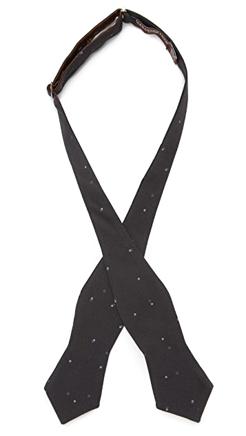 Alexander Olch Double Dot Printed Bow Tie