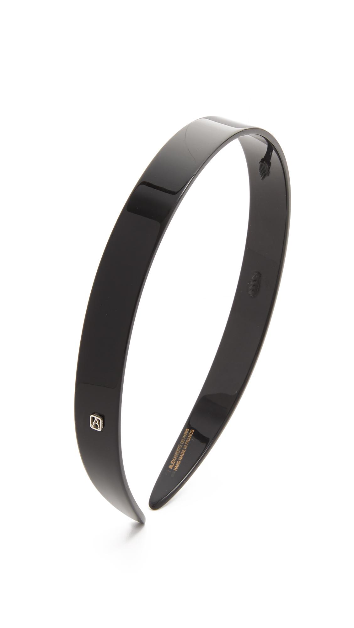 Alexandre de Paris Classic Headband - Black