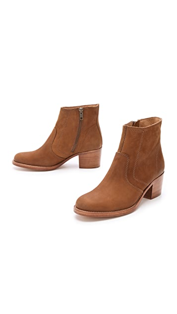 A.P.C. Stacked Heel Ankle Boots