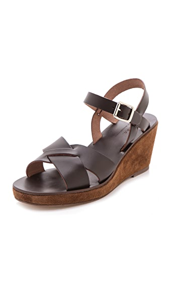 A.P.C. Demi Wedge Sandals