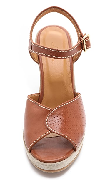 A.P.C. Perforated Wedge Sandals